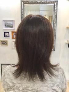 江東区住吉と菊川の間にある美容室、ヘアサロン シュガーのアッシュブラウンを『スロウ』というカラー剤で表現