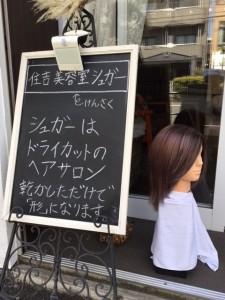江東区住吉、墨田区毛利からも近い美容室 ヘアサロン シュガーより 玄関の人形を変えました