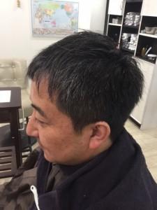 江東区住吉と菊川の間にある美容室 ヘアサロン シュガー、男性の白髪を目立たなくさせるカラー