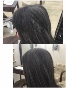 江東区住吉と菊川の間にある美容室 ヘアサロン シュガー、「白髪」を「ナチュラルグレー」に