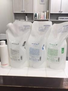 江東区住吉と菊川の間にある美容室 ヘアサロン シュガーのパーマ剤、髪の状態に合わせて薬剤選定をします。